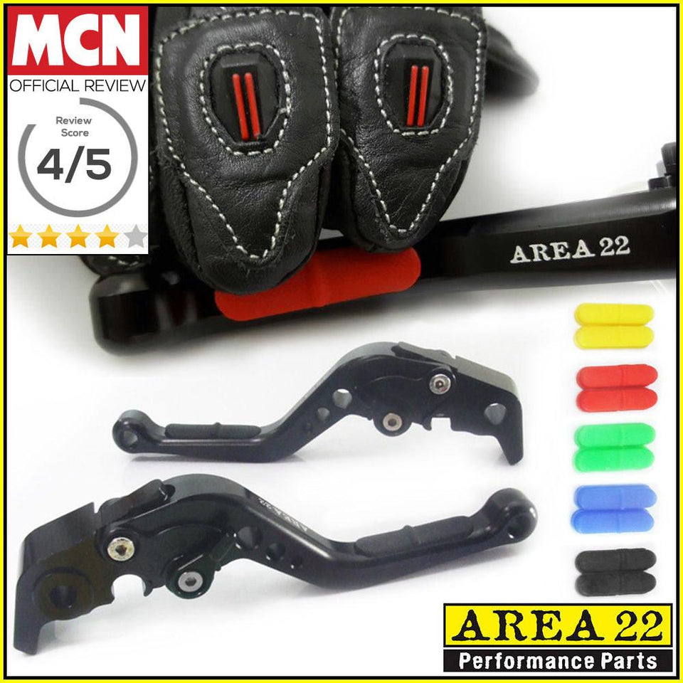 Area 22 Anti-Slip Adjustable Short Motorcycle Brake and Clutch Levers