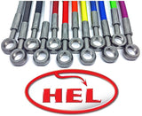 Hel Performance FRONT Braided Brake Lines for Kayo MR150 MR250 Minigp