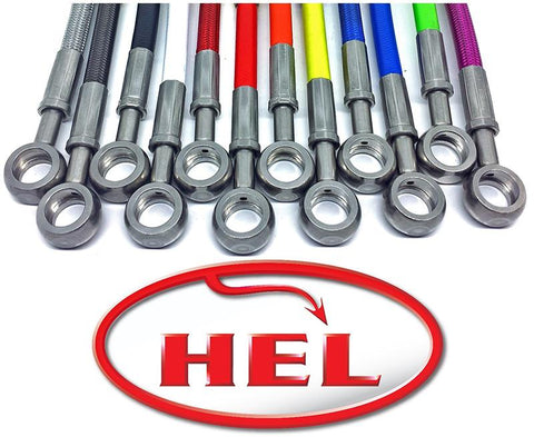 Hel Performance Full Race Length FRONT Braided Brake Lines