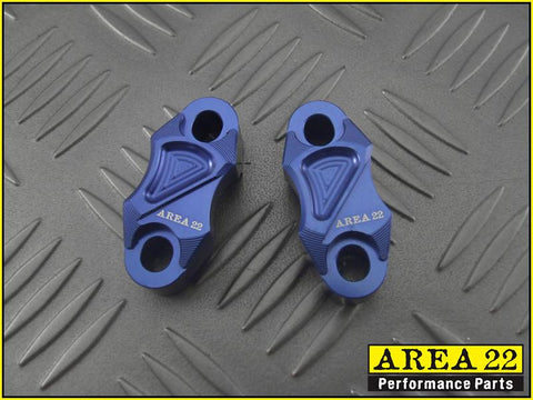 Area 22 2014 2015 Honda MSX125 Grom CNC Aluminium Brake and Clutch Mounts Blue