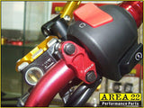 Area 22 2014 2015 Honda MSX125 Grom CNC Aluminium Brake and Clutch Mounts Red