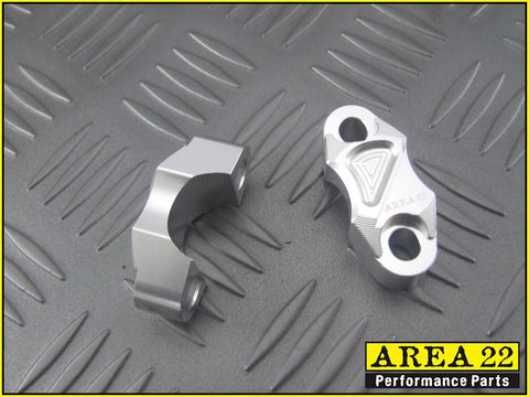 Area 22 2014 2015 Honda MSX125 Grom CNC Aluminium Brake and Clutch Mounts Silver