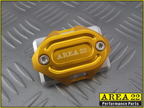 Area 22 -2014 2015 Honda MSX125 Grom CNC Aluminum Brake Reservoir Cover Gold