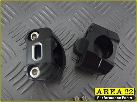 Area 22 Black Handle Bar Mounts 2013-2018