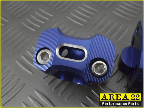 Area 22 Blue Handle Bar Mounts 2013-2018