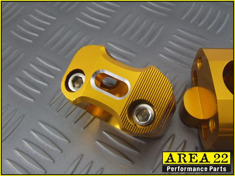 Area 22 Gold Handle Bar Mounts 2013-2018
