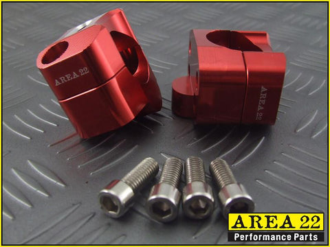 Area 22 Red Handle Bar Mounts 2013-2018