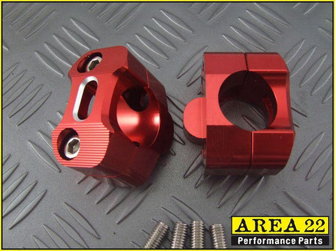 Area 22 Honda MSX125 GROM Red Handle Bar Mounts 2013-2018