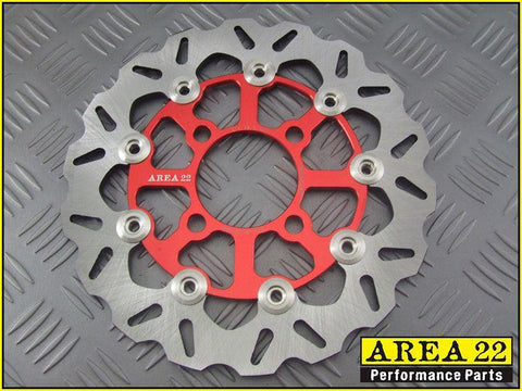 Area 22 Honda MSX125 Grom Full Floating Front Brake Disc Rotor Red