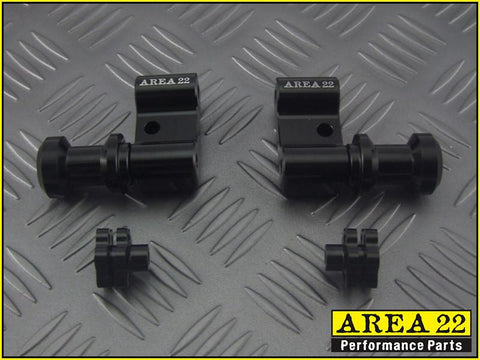 Area 22 2014 2015 Honda MSX125 Grom Swingarm Spool Mounts Bobbins Black
