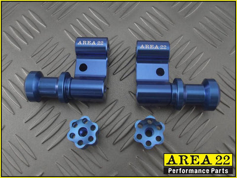 Area 22 2014 2015 Honda MSX125 Grom Swingarm Spool Mounts Bobbins Blue