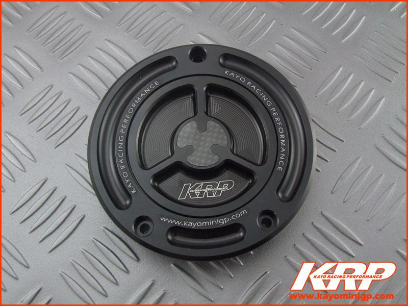 KRP-CNC Aluminium Keyless Fuel Cap with Carbon Fiber -Black for Kayo MiniGP MR150 MR250