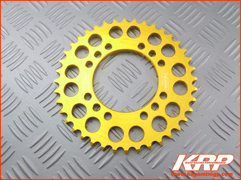 KRP-Rear Aluminium Sprocket -Gold for Kayo MiniGP MR150 MR250
