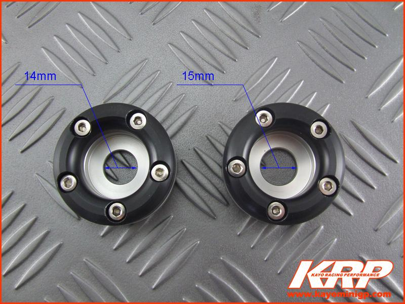 KRP-CNC Front Axle Protectors for Kayo MiniGP MR150 MR250