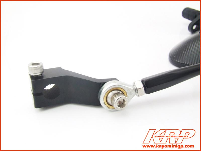 KRP Spare Gear shift arm for Kayo MR150 Minigp Rearsets Black