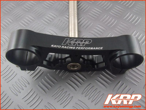 KRP-CNC Aluminium Lower Triple Clamp Black for Kayo MiniGP MR150 MR250