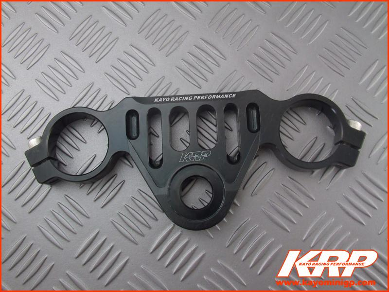 KRP-CNC Aluminium Top Triple Clamp - Black for Kayo MiniGP MR150 MR250