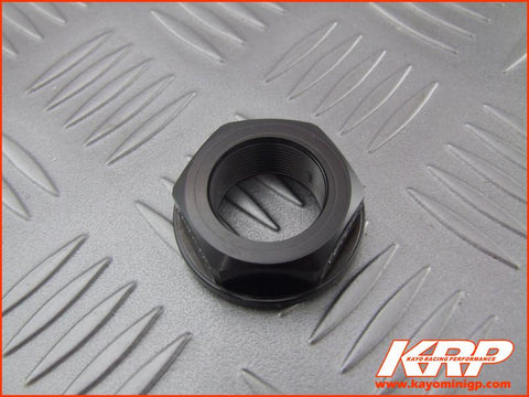 KRP-CNC Aluminium Steering Head Nut - Black for Kayo MiniGP MR150