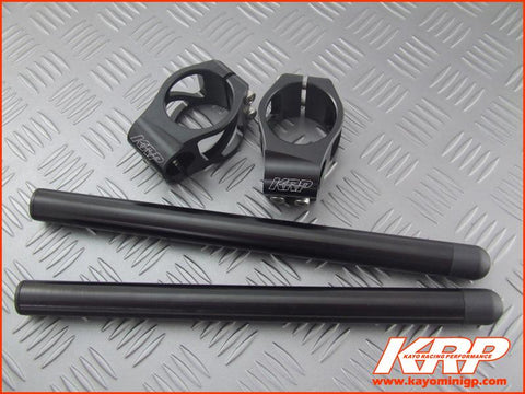 KRP-CNC Clip On Handle Bars Black for Kayo MiniGP MR150 MR250