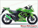 Kawasaki Ninja 250R/300R 2008-2016 - Musarri Racing Exhaust - Green