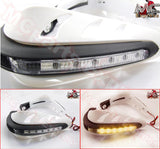Universal Motorcycle LED Hand Guards Protectors - White