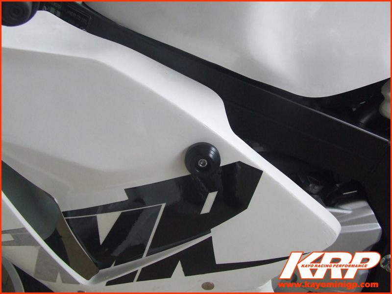 KRP-Delron Crash Protectors Black for Kayo MiniGP MR150 MR250