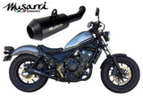 Musarri Slip On GP Exhaust Honda CMX500 REBEL 2017 - 2020 Musarri Slip-on Black