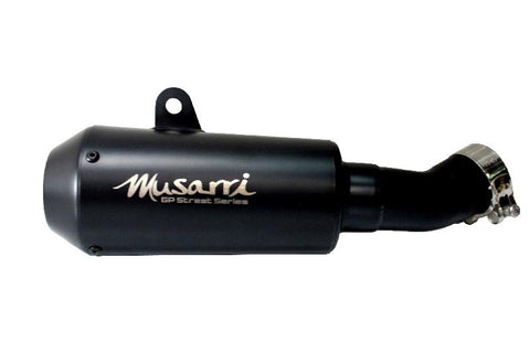 Kawasaki ZX-10R ZX10R 2011-2016 Musarri Slip On GP Exhaust Silencer Pipe Black