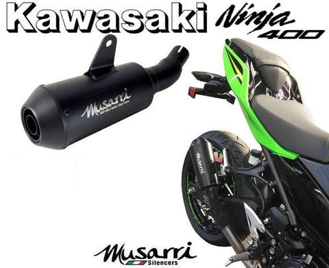 Musarri GP Street Series Slip-on Exhaust Kawasaki Ninja 400 SE KRT 2018 + Black