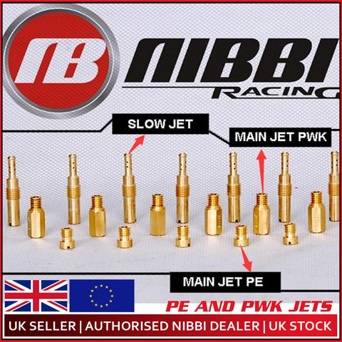 Nibbi Motorcycle Spare Carburetor Carburettor Jets x 5 (Pick 5 sizes Main,pilot)