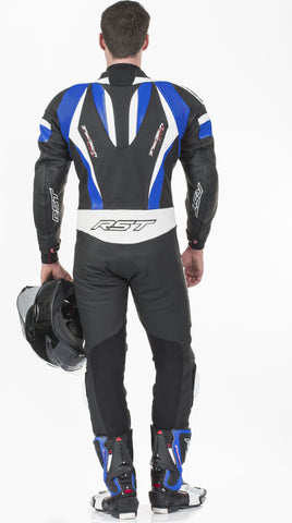 RST TRACTECH EVO II M LEATHER ONE PIECE SUIT BLUE