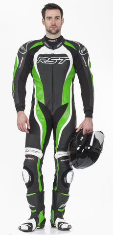 RST TRACTECH EVO II M LEATHER ONE PIECE SUIT GREEN