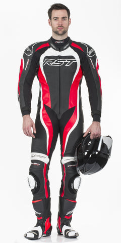 RST TRACTECH EVO II M LEATHER ONE PIECE SUIT RED