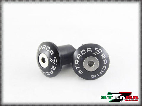Strada 7 Racing CNC Small Handle Bar Ends For Aprilia Motorcycles