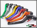 Strada 7 Racing 3D Long CNC Adjustable Levers with Carbon Fiber Inlay For Aprilia Motorcycles