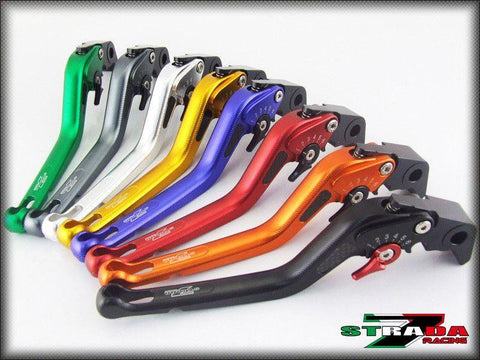 Strada 7 Racing 3D Long CNC Adjustable Brake and Clutch Levers with Carbon Fiber Inlay