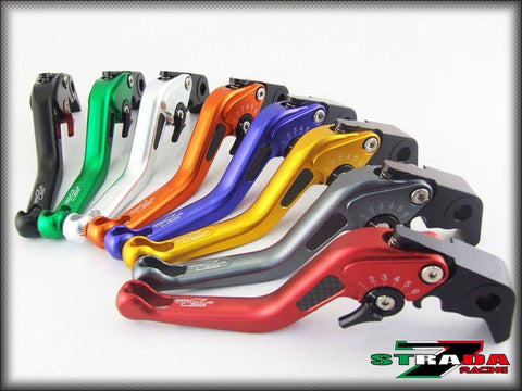 Strada 7 Racing 3D Short CNC Adjustable Brake and Clutch Levers with Carbon Fiber Inlay