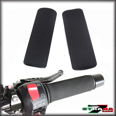 Strada 7 Racing Universal Foam Anti-Vibration Motorcycle Grip Covers