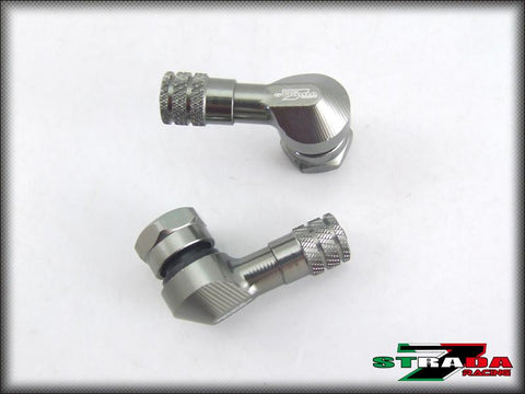 Strada 7 Racing CNC Aluminium 11.3mm 83 Degree Valve Stems For Suzuki Motorcycles