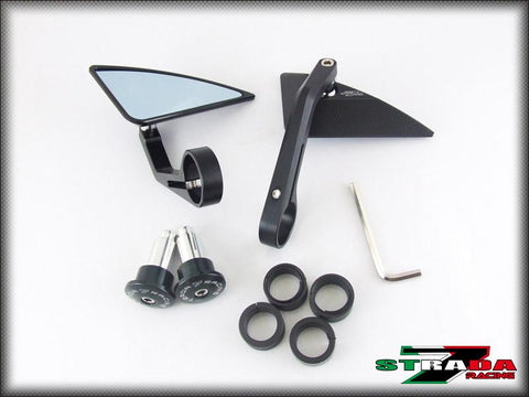 Strada 7 Racing Universal CNC Aluminum Triangle Bar End Motorcycle Mirrors