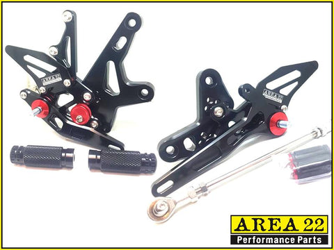 Kawasaki Ninja 400 2018+ Area 22 Adjustable Rear Sets