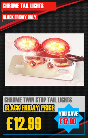 CHROME TWIN STOP/TAIL LED LIGHT RED