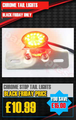 CHROME SINGLE STOP/TAIL LED LIGHT RED