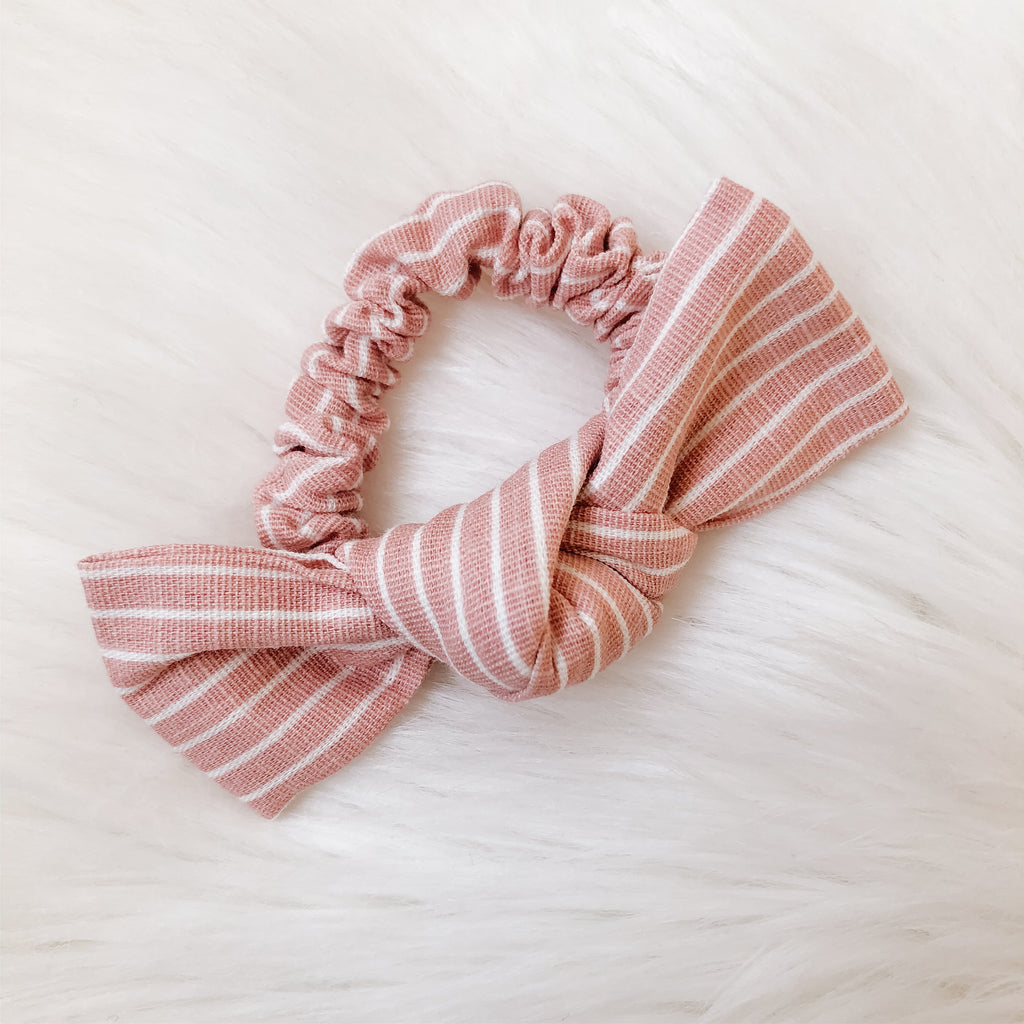 Linen Scrunchie - Blush Stripe