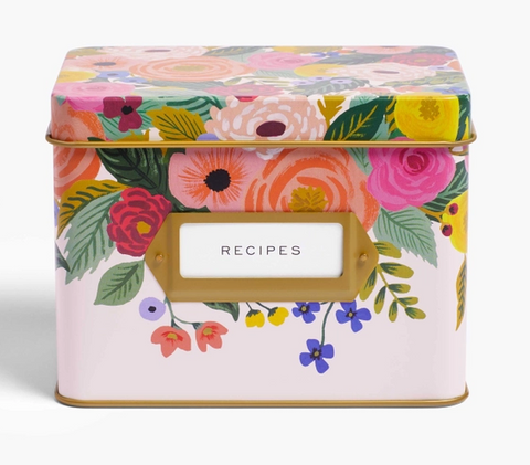 Juliet Rose Tine Recipe Box