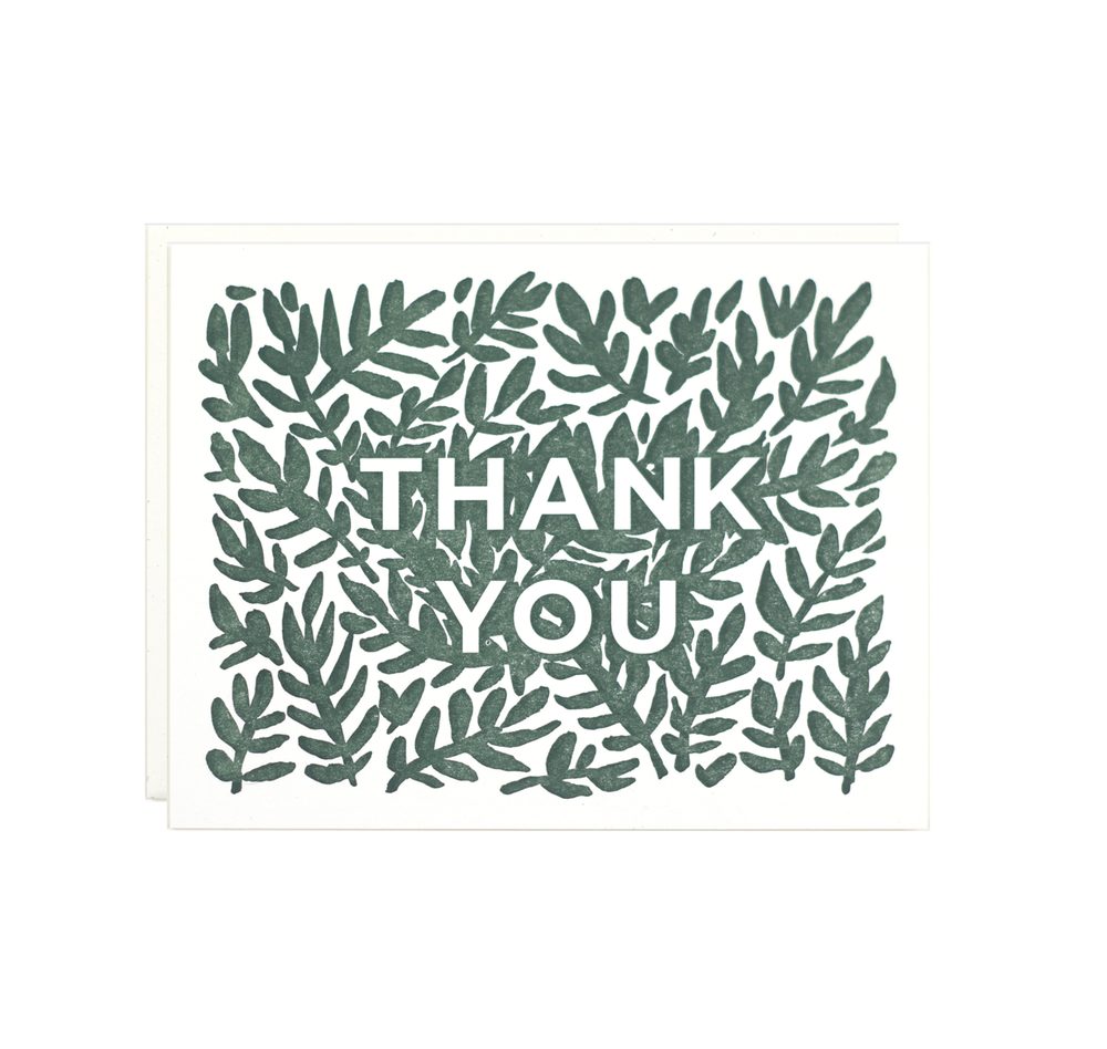 Thank You - Leaves