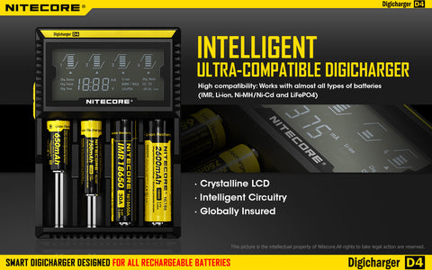 Nitecore Digicharger D4 4-Bay Battery Charger