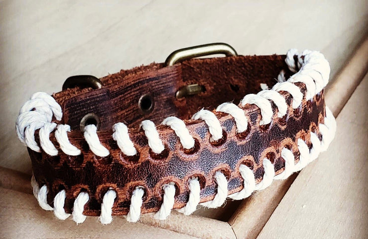 Woven Leather Cuff