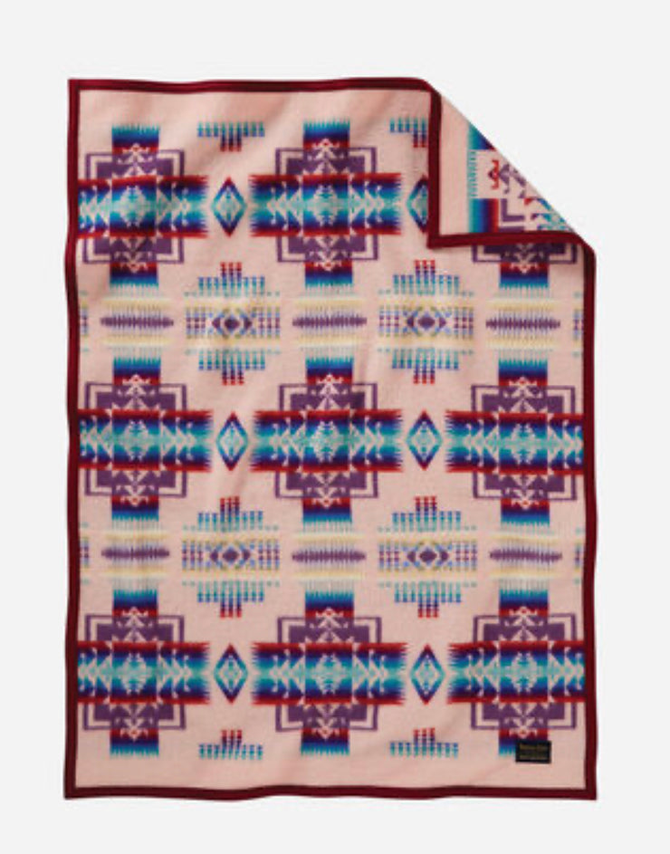 Pink Chief Joseph Crib Blanket - Pendleton