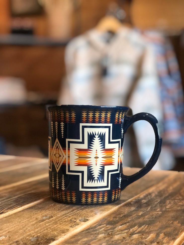 Harding Navy Coffee Mug- Pendleton